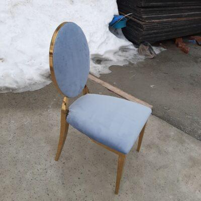 стілець мілано сіро-голубий в оренду