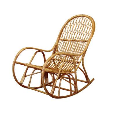 Плетене крісло качалка
