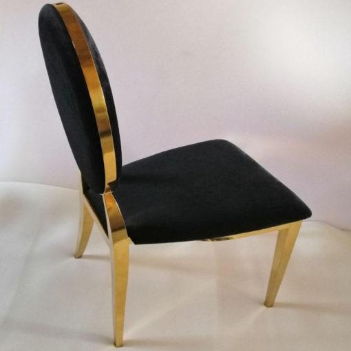 аренда стула банкетного золотого Милано черного