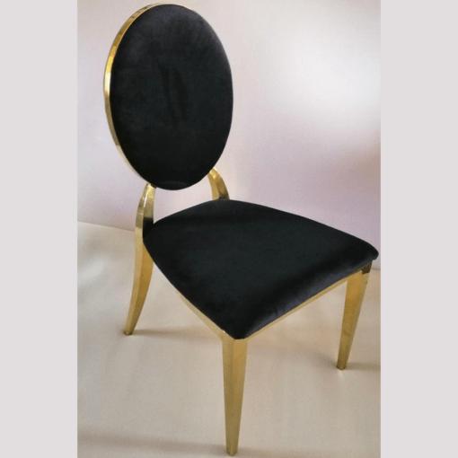 оренда стільця золотого Мілано чорного