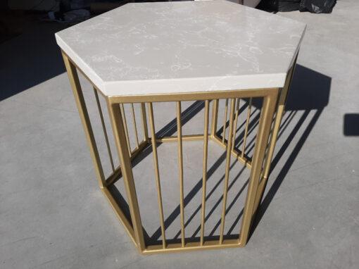прокат столика золотого кофейного